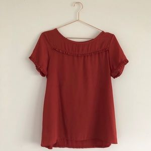 LOFT | Ruffle Detail T-Shirt
